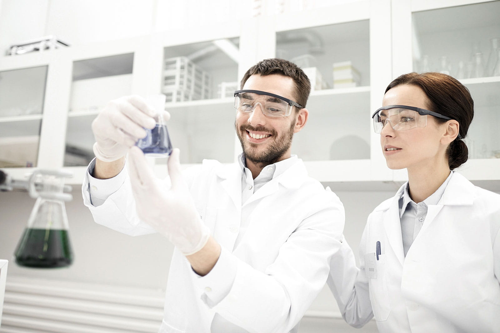 Researchers in a lab