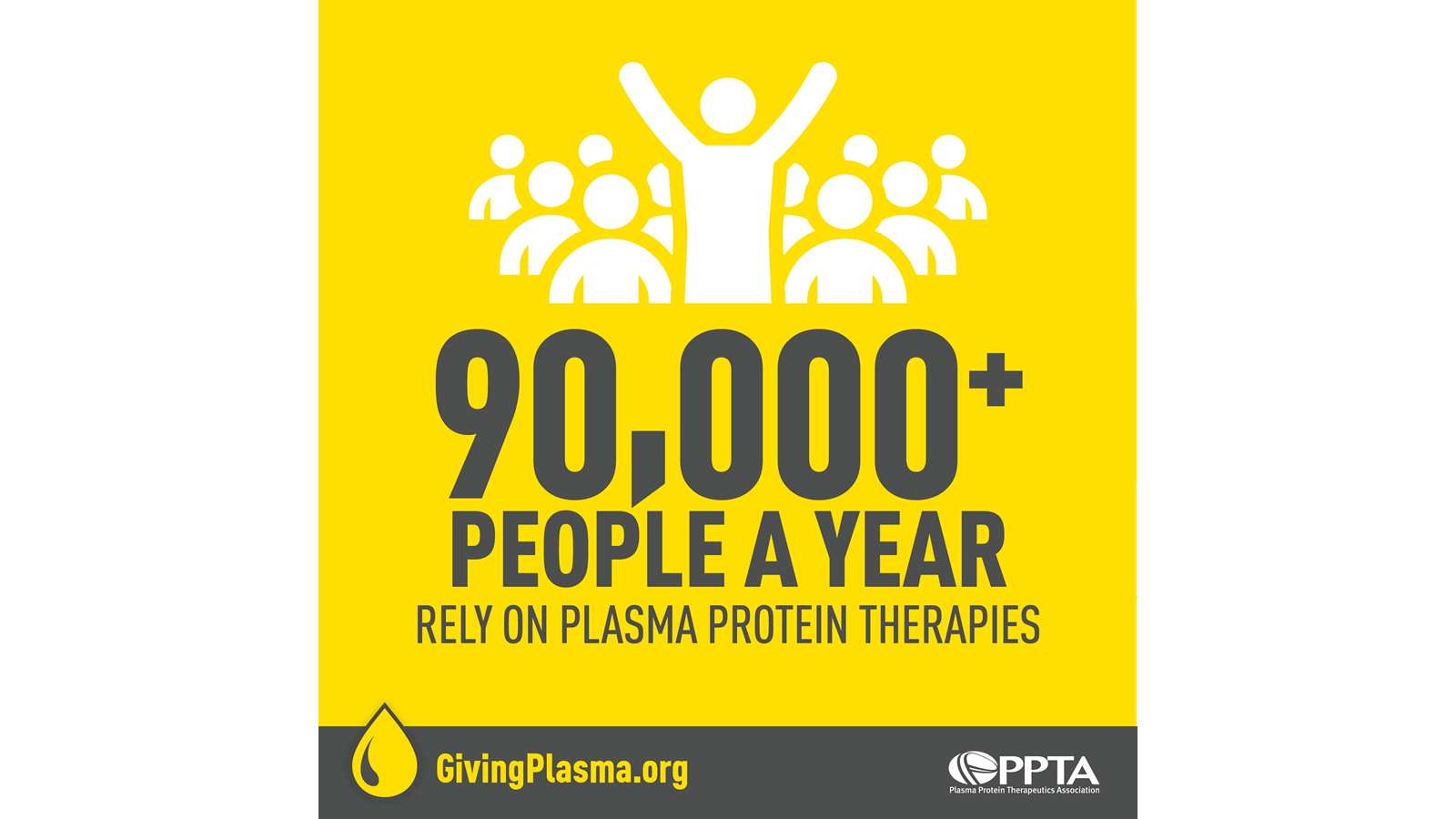 90,000 people a year rely on plasma protein therapies