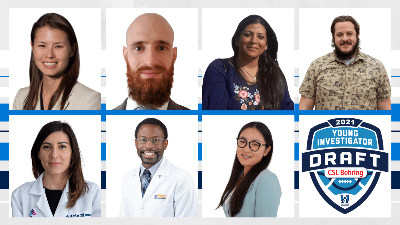 Seven winners of the 2021 Young Investigator Draft