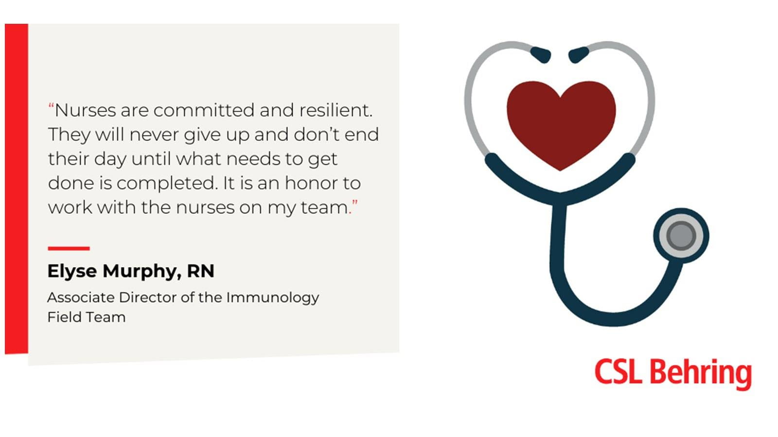 Nurses are committed and resilient quote.