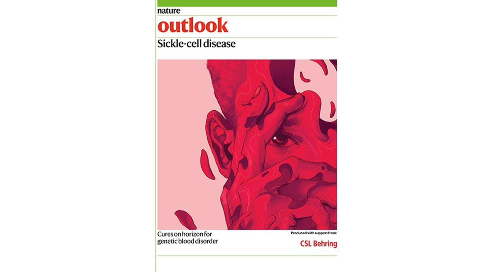 magazine cover of Nature Outlook featuring sickle cell disease