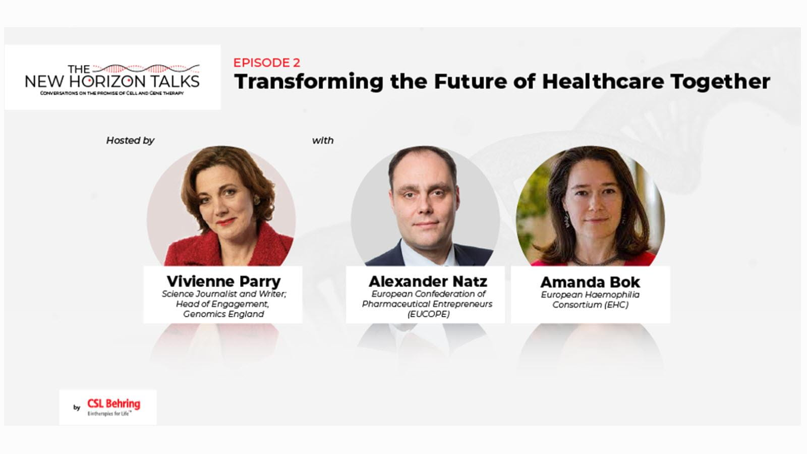 Transforming the Future of Health Care Together with photos of podcast participants