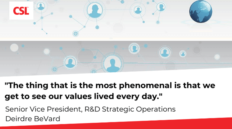 Deidre BeVard says: We get to see our values lived every day.