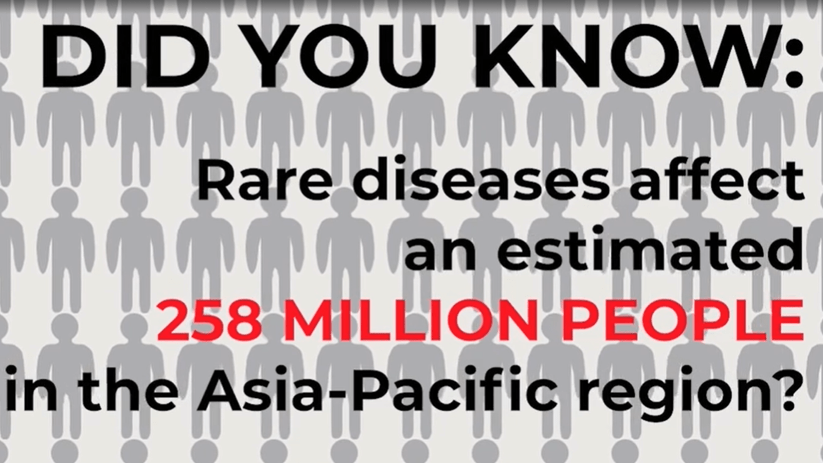 Did you know rare diseases affect 258 million people in Asia PAC?