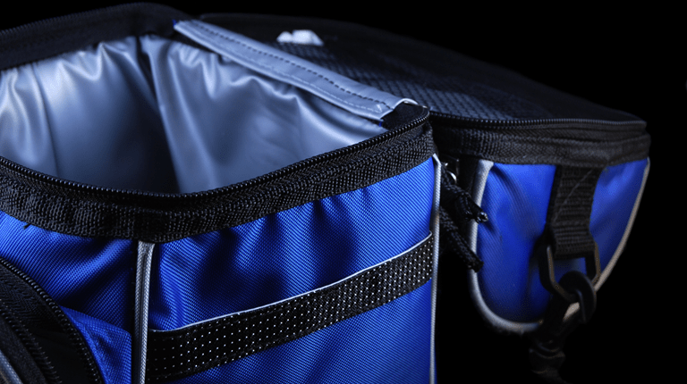 blue insulated bag