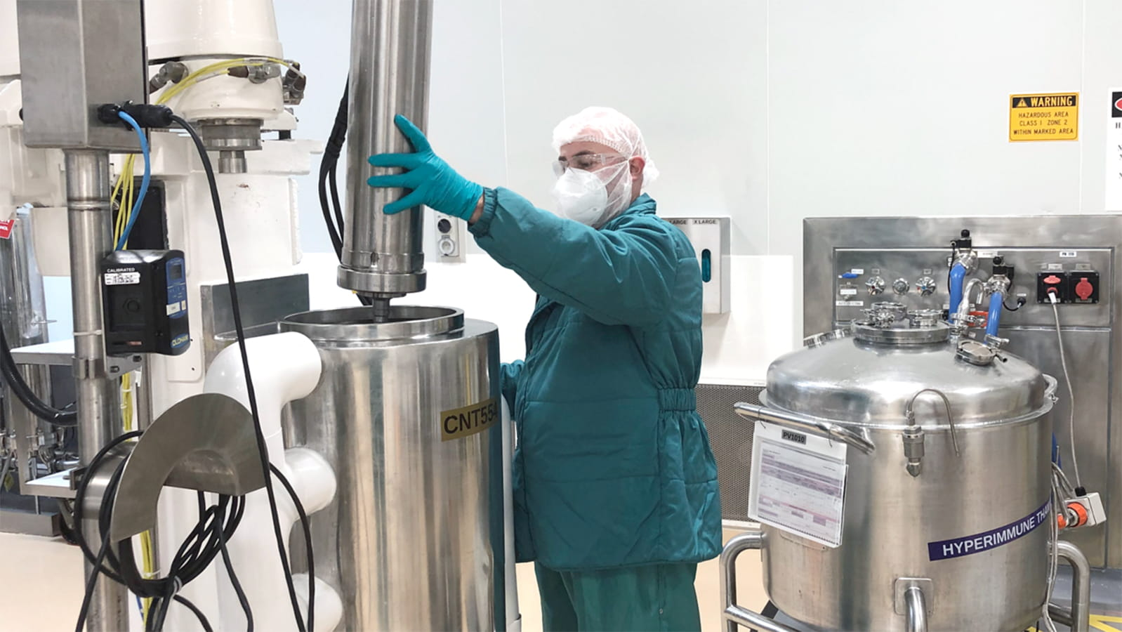 Production of potential COVID-19 hyperimmune treatment at CSL Behring Broadmeadows