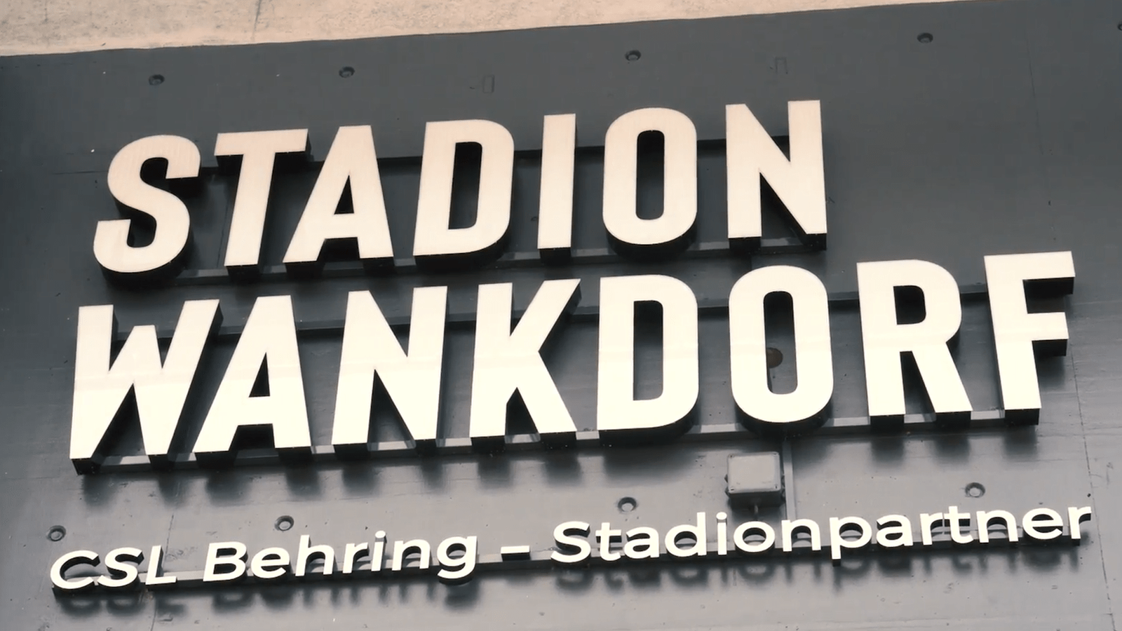 Sign at Stadion Wankdorf in Bern, Switzerland