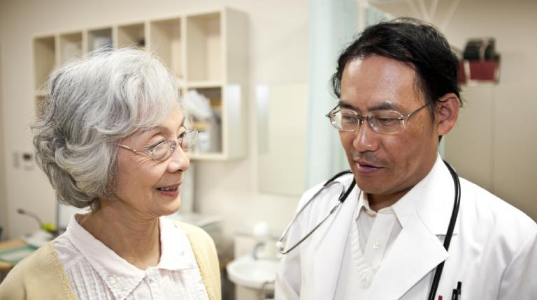 Woman and her doctor at a medical appointment