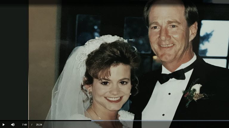 Dawn Rotellini and her father on her wedding day