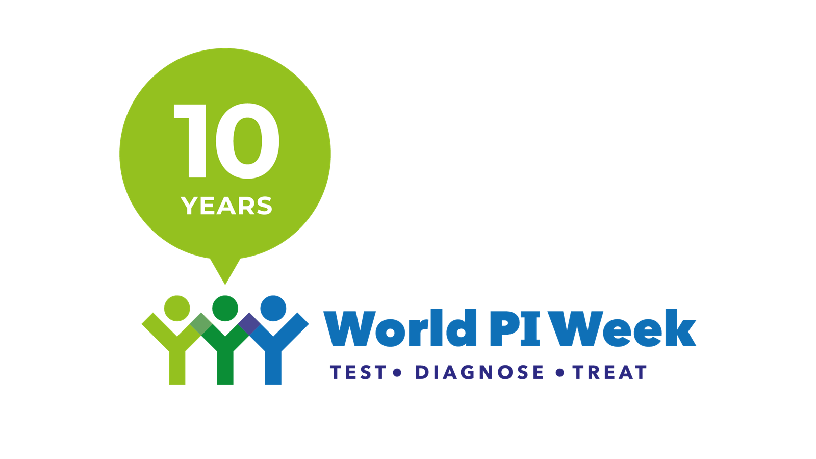10th anniversary logo for World PI Week